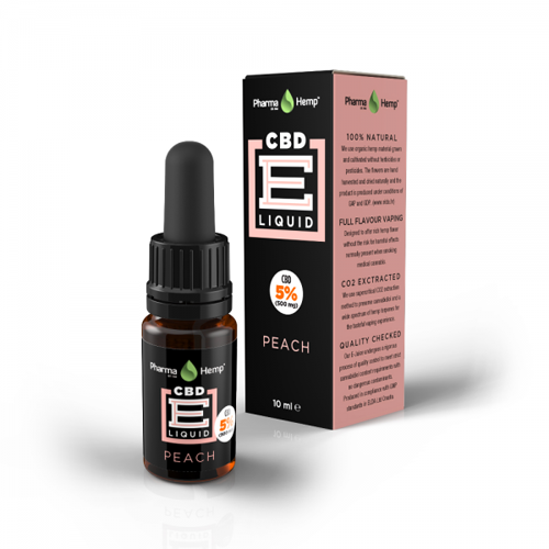CBD e-liquid 5% 10ml őszibarack Pharma Hemp
