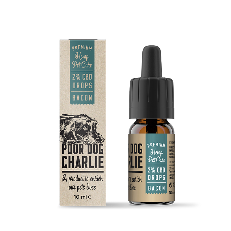 POOR DOG CHARLIE CBD szalonna csepp 2% 10ml Pharma Hemp