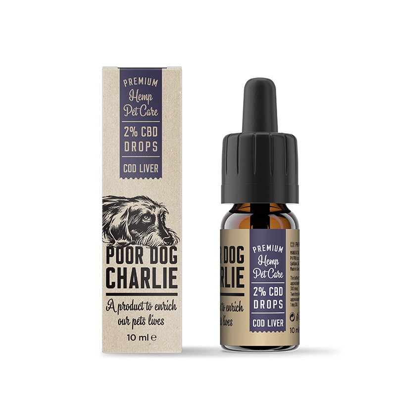 POOR DOG CHARLIE CBD tőkehal máj csepp 2% 10ml Pharma Hemp