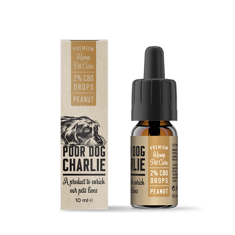 POOR DOG CHARLIE CBD földimogyoró csepp 2% 10ml Pharma Hemp