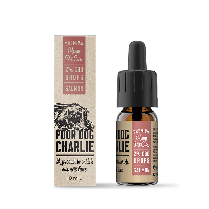 POOR DOG CHARLIE CBD lazac csepp 2% 10ml Pharma Hemp