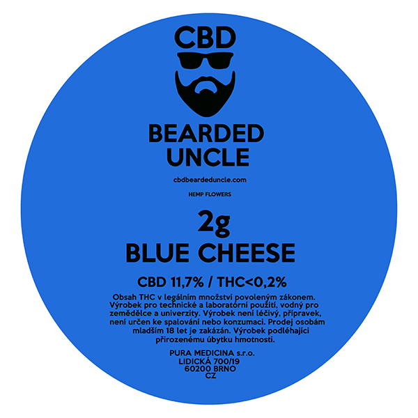 CBD virágok weed BLUE CHEESE 2g BEARDED UNCLE