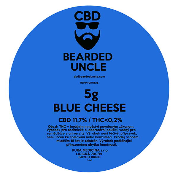CBD virágok weed BLUE CHEESE 5g BEARDED UNCLE