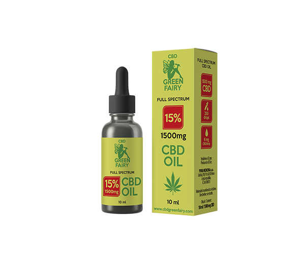 CBD olaj full spectrum 15% 1500mg 10ml  GREEN FAIRY