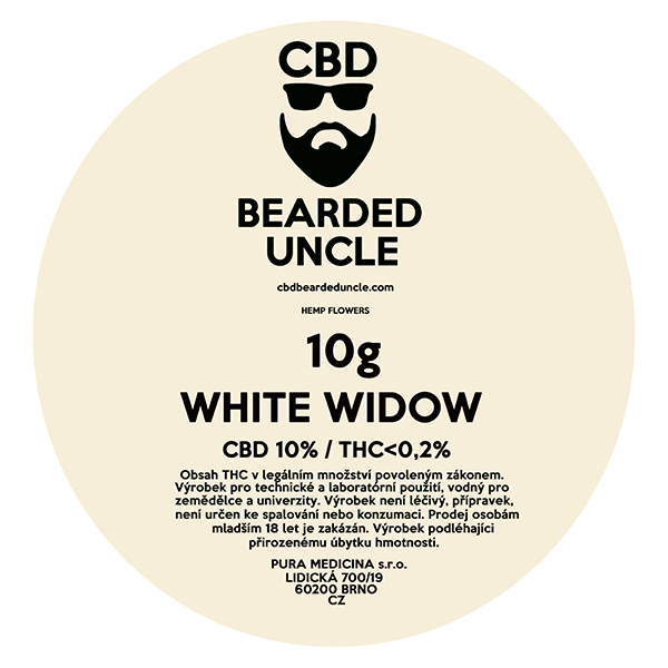 CBD virágok weed WHITE WIDOW 10g BEARDED UNCLE