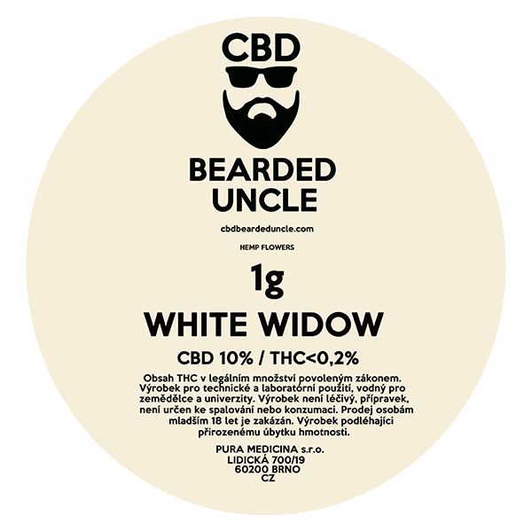 CBD virágok weed WHITE WIDOW 1g BEARDED UNCLE