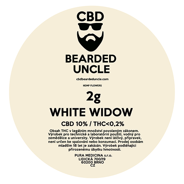 CBD virágok weed WHITE WIDOW 2g BEARDED UNCLE